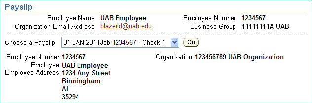 Uab Financial Affairs - Self Service: Payslip - Updated